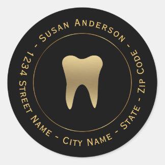 Circular Dental Return Address Label