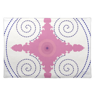 Circular Design Motif Template for Custom Text Placemat