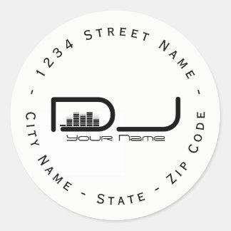Circular DJ Equalizer Return Address Label
