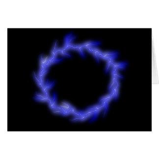 Circular Lightning Card