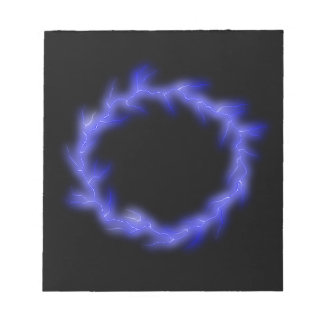 Circular Lightning Notepad