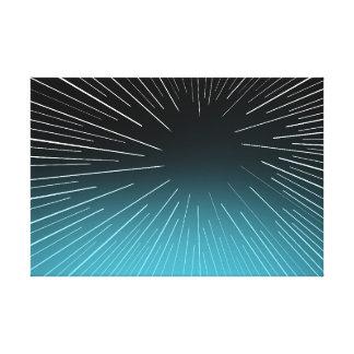 Circular Linear Aqua - Canvas Print