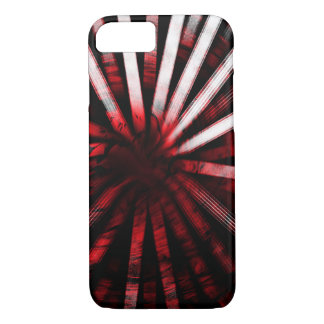 Circular Lines Red - Apple iPhone Case