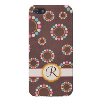 Circular pattern with polka dots Monogram iPhone 5/5S Case