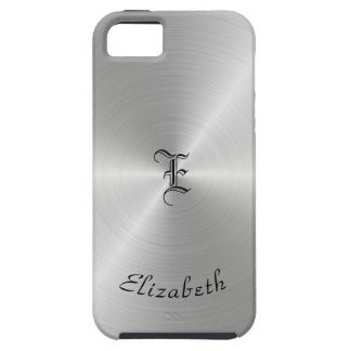 Circular Polished Metal Texture, Personalized iPhone 5 Case