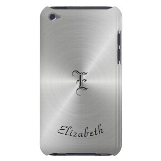 Circular Polished Metal Texture, Personalized iPod Touch Case