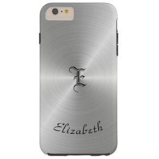 Circular Polished Metal Texture, Personalized Tough iPhone 6 Plus Case