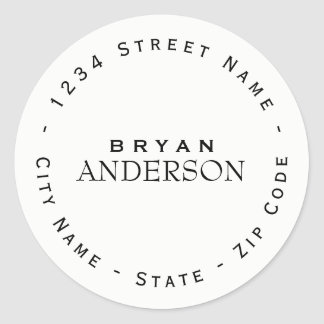 Circular Professional Return Address Label