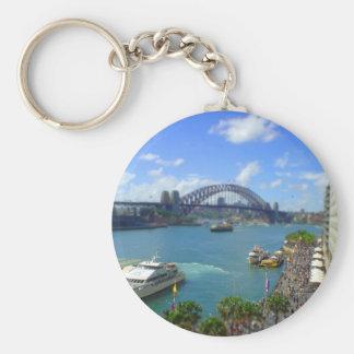Circular Quay Sydney Basic Round Button Keychain