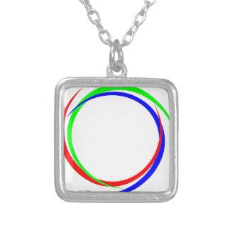 Circular RGB Logo Silver Plated Necklace
