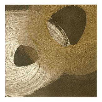 Circular Sandstorm in Tan and Dark Brown Acrylic Print