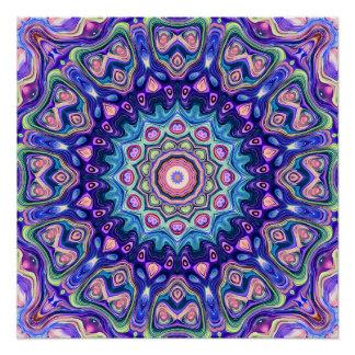 Circular Spectral Kaleidoscope Poster