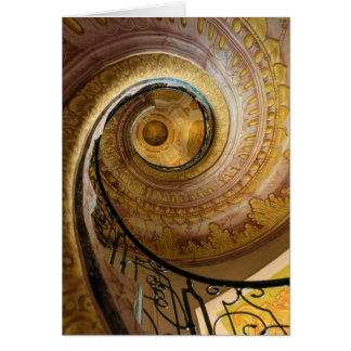 Circular spiral staircase, Austria Card
