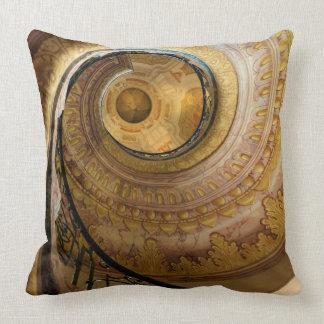 Circular spiral staircase, Austria Throw Pillow