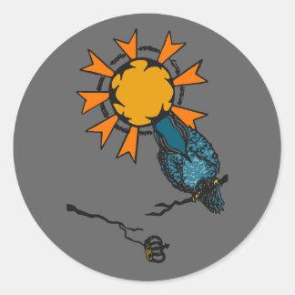 Circular sticker Bird Rey