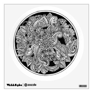 Circular Style Wall Decal with Mandala