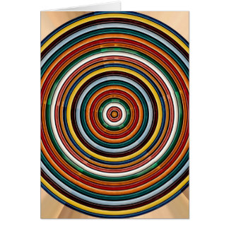 Circular Wave Embossed Colorful Strips Party GIFTS Card