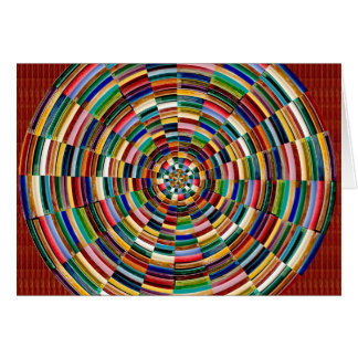 Circular Wave Embossed Colorful Strips Party GIFTS Cards