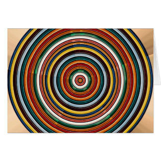 Circular Wave Embossed Colorful Strips Party GIFTS Greeting Card