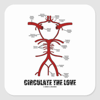 Circulate The Love (Circle Of Willis) Square Sticker