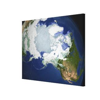 Circum-Arctic permafrost Stretched Canvas Print