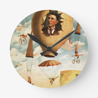 circus art wall clocks