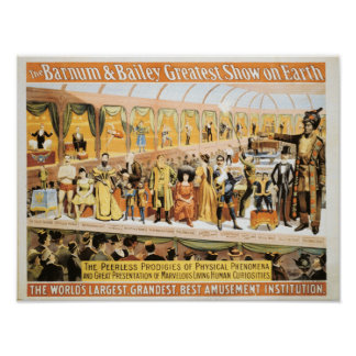 Circus Barnum and Bailey Greatest Show on Earth Poster