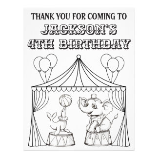 Circus Birthday Coloring Page | Coloring Sheet
