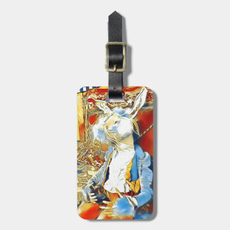 Circus Bunny Luggage Tag
