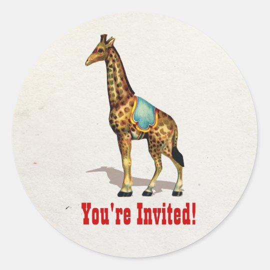 Circus Carnival Animals Giraffe Stickers
