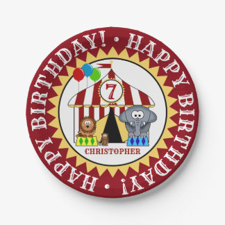 Circus Carnival Birthday Party Paper Plate
