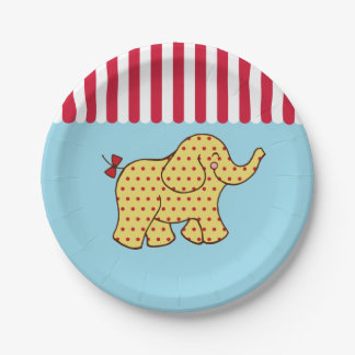 Circus Carnival Elephant Party Paper Plates