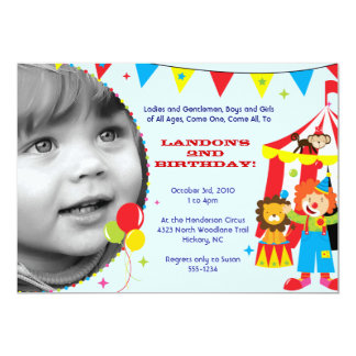 Circus / Carnival Party Invitations