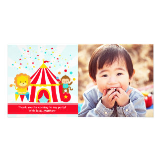 Circus Carnival Personalized Thank You Card