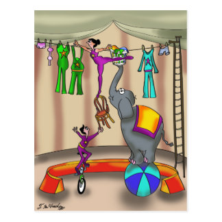 Circus Cartoon 9376 Postcard