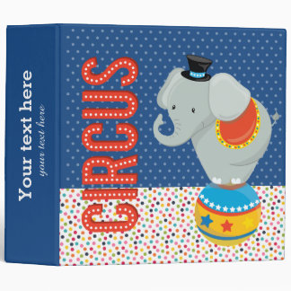Circus * choose background color vinyl binder