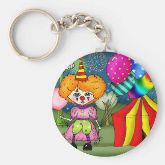 Circus Circus Basic Round Button Keychain