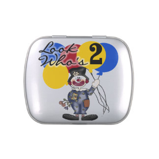 Circus Clown 2nd Birthday Candy Tins and Jars