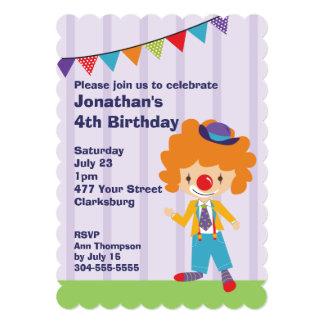 Circus Clown Birthday Party Custom Invites