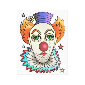 Circus Clown Canvas Print