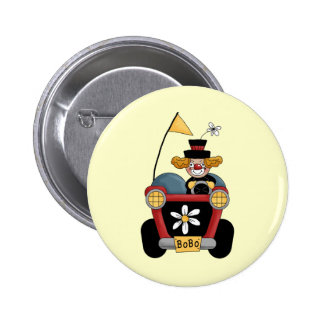 Circus Clown Car 2 Inch Round Button