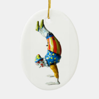 Circus Clown Ceramic Ornament