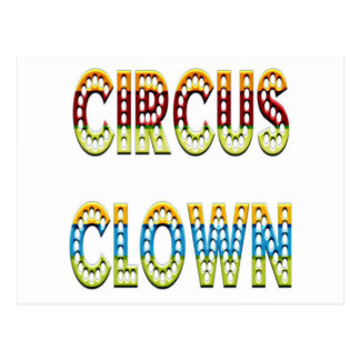Circus Clown Colors Postcard