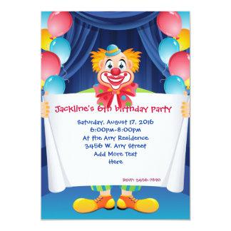 clown party invitations announcements zazzle ca