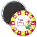 Circus Clown with Stars Ornament Refrigerator Magnet