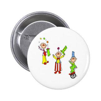 Circus Clowns 2 Inch Round Button