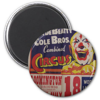 Circus, 'Clyde Beatty and Cole Bros' Retro Theater Magnet