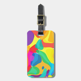 Circus Colors Chaos Abstract Art Pattern Luggage Tag