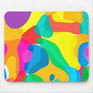 Circus Colors Chaos Abstract Art Pattern Mouse Pad