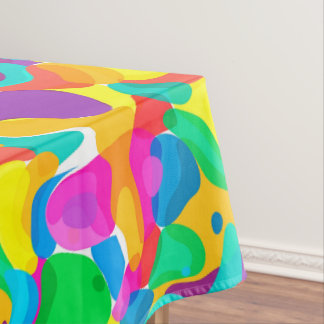 Circus Colors Chaos Abstract Art Pattern Tablecloth